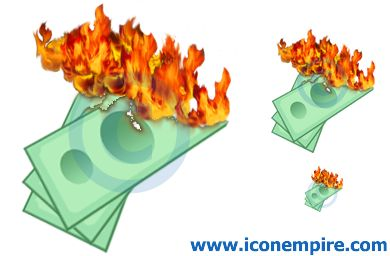Burning Money Clip Art