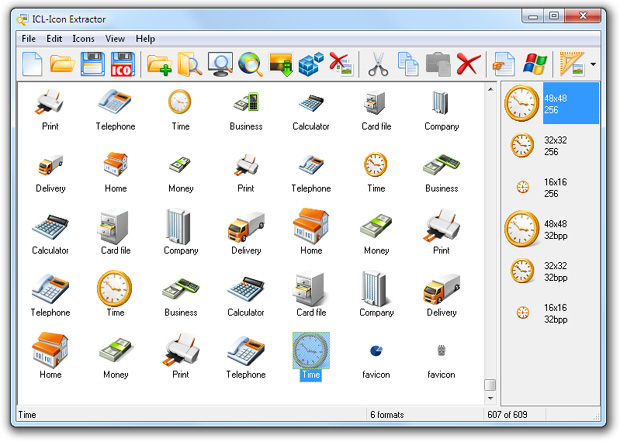 Click to view ICL-Icon Extractor 5.10 screenshot