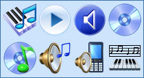 Multimedia Icon Set for Vista
