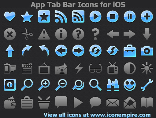 Windows 7 App Tab Bar Icons for iOS 2.3 full