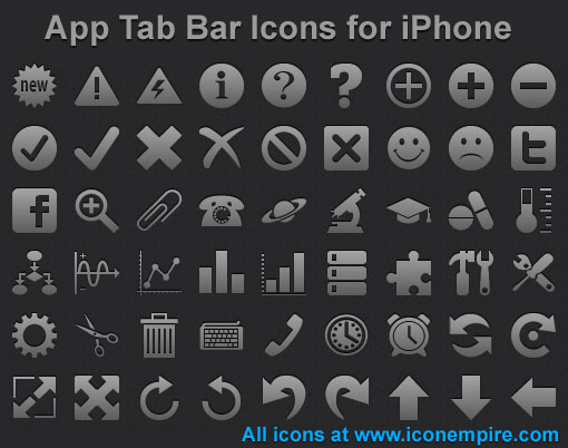 App Tab Bar Icons for iPhone full screenshot