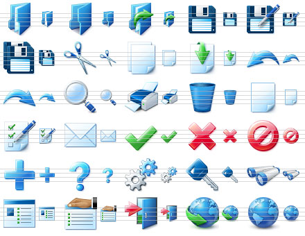 Blue Icon Library 4.8