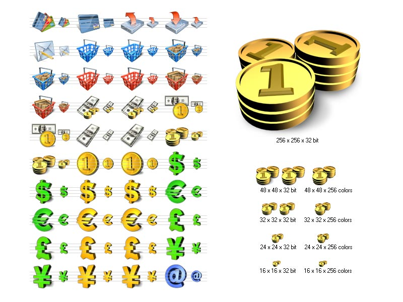 Vista Financial Icon Library is a collection of money and shopping related icons