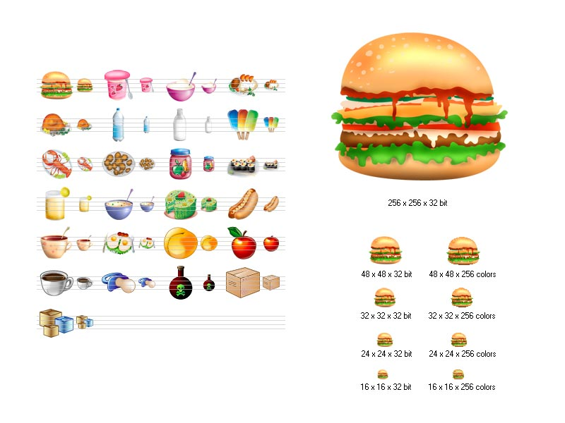 Click to view Food Icon Library screenshots