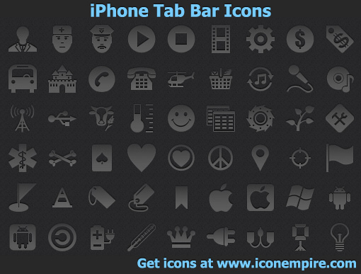 iPhone Tab Bar Icons - stock icons,stock,icon,icons,app,tab,bar,ios,iphone,ipad,ipod,icon design,web design,clipart,design,icon design,web design,webdesign,portfolio,google - iPhone Tab Bar Icons is a high-quality set of pictograms for iPhone software
