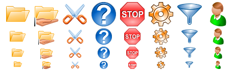 software toolbar icons