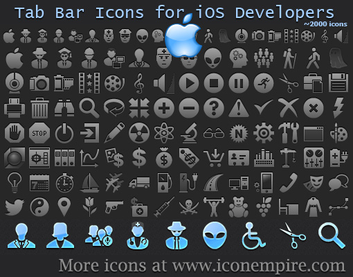 Tab Bar Icons for iOS Developers