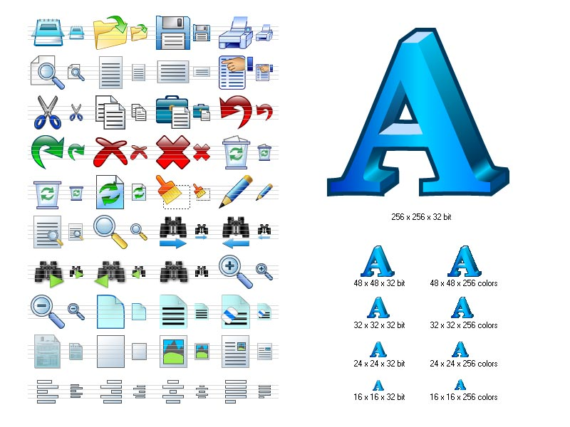 Click to view Word Icon Library 3.9 screenshot