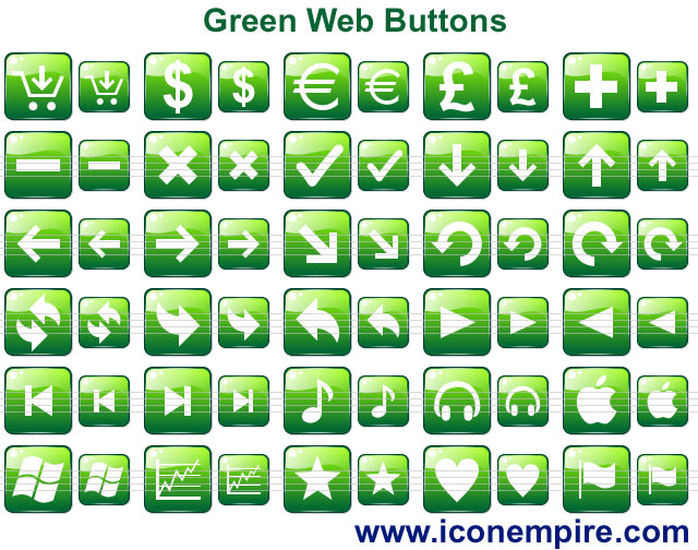 Click to view Green Web Buttons 1.0 screenshot