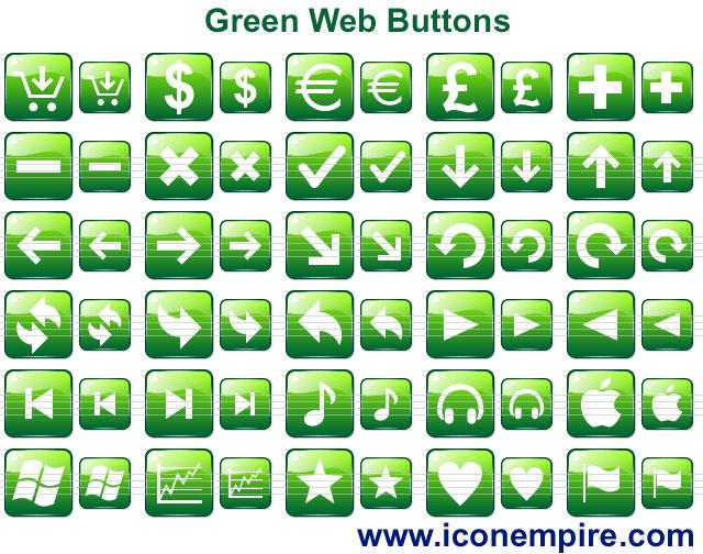 Green Web Buttons Screenshot