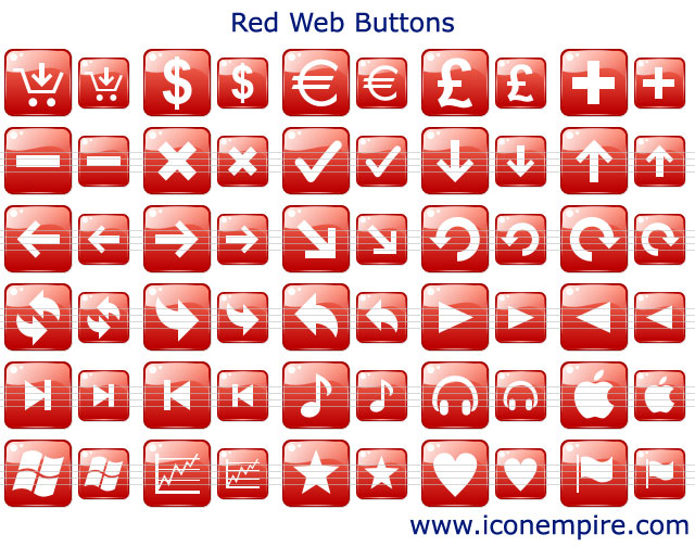 Windows 7 Red Web Buttons 2.1 full