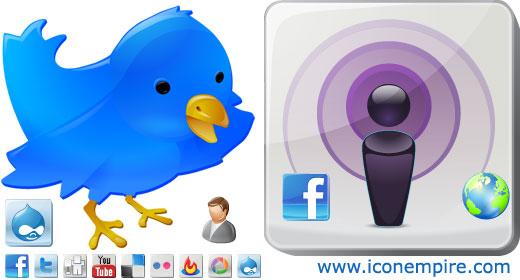 Windows 7 Social Web Buttons 2.0 full
