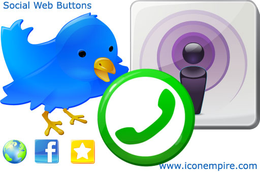 web social buttons