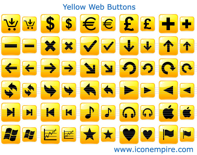 Yellow Web Buttons 2.0 full